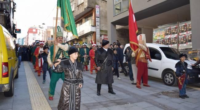 Giresun da Mevlid-i Nebi Haftası yürüyüşü
