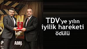 TDV'ye yılın iyilik hareketi farkındalık ödülü