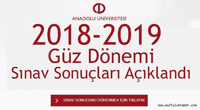 2018-2019 Güz Dönemi Sınav Sonuçları Açıklandı