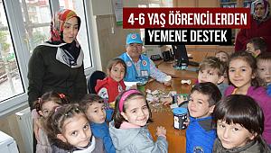 4-6 yaş arası Kur'an kursu öğrencilerden Yemen'e destek