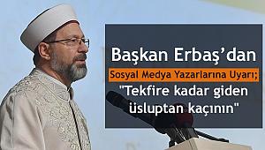 Başkan ERBAŞ dan Uyarı