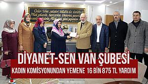 Diyanet-Sen Van Şubesi Kadın Komisyonundan Yemene Yardım