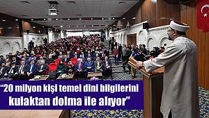 Erbaş Mardin de Üniversite Öğrencileri ile buluştu