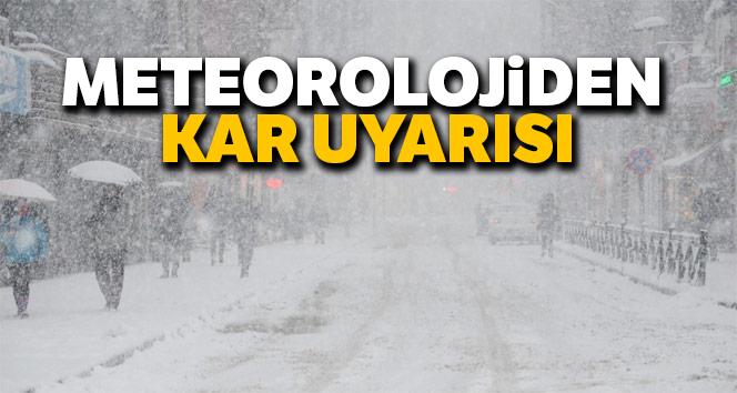 Meteorolojiden kar uyarısı! 29 Aralık Cumartesi hava durumu...