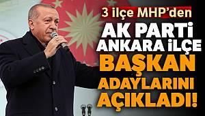 Cumhurbaşkanı Erdoğan, Ankara ilçe başkan adaylarını açıkladı!