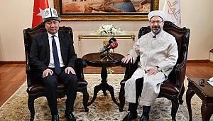 Başkan Erbaş, Kırgızistan heyetini kabul etti