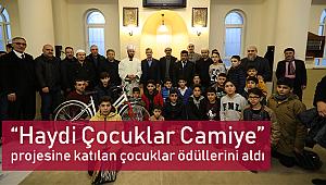 """""""Haydi Çocuklar Camiye"""" projesine katılan çocuklar ödüllerini aldı"""