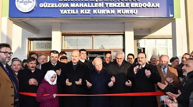Tenzile Erdoğan Yatılı Kız Kur'an Kursu dualarla açıldı