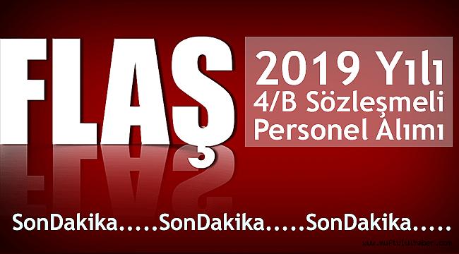 2019 Yılı 4/B Sözleşmeli Personel Alımı İlanı