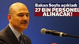 Bakan Soylu: Jandarmaya bu yıl 27 bin 180 personel alımı planlanmaktadır