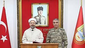 Başkan Erbaş, 3. Ordu Komutanlığı'nı ziyaret etti