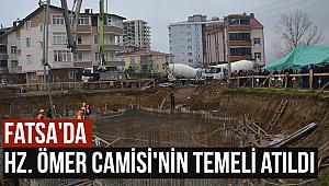 Hz. Ömer Camisi'nin temeli törenle atıldı.