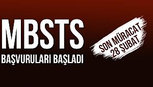 MBSTS Başvuruları Başladı