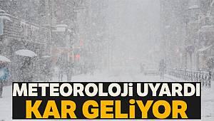 Meteoroloji uyardı kar geliyor, 9 Şubat 2019 yurtta hava durumu