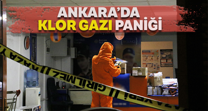 """Ankara'da kargo şirketinde """"klor gazı"""" paniği"""