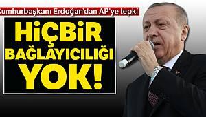 Cumhurbaşkanı Erdoğan'dan Avrupa Parlamentosu'na tepki: Hiçbir bağlayıcılığı yok