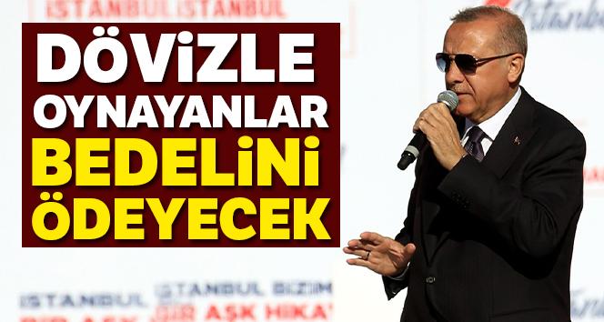 Cumhurbaşkanı Erdoğan: 'Dövizle oynayanlar bedelini ödeyecek'
