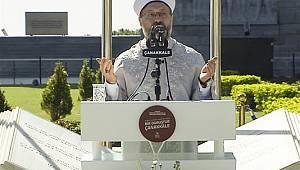 Erbaş, Çanakkale'de şehitler için dua etti