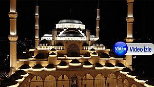 İbadete açılan Çamlıca Camii havadan görüntülendi