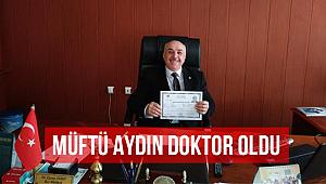Osmancık İlçe Müftüsü Eyyup Aydın Doktor Oldu.