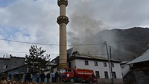 Sivas da Caminin çatısı yandı
