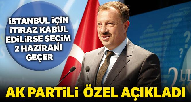"""AK Parti YSK Temsilcisi Özel: """"İstanbul için itiraz kabul edilirse seçim tarihi 2 Haziranı geçer"""""""