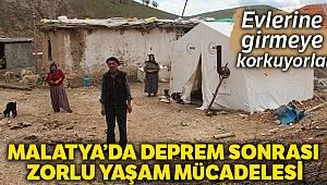 Argun'da yaşanan depremlerden dolayı vatandaş evlerine giremiyor