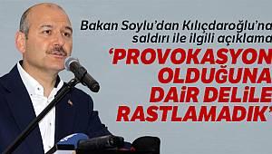 Bakan Soylu'dan Kılıçdaroğlu'na saldırı ile ilgili açıklama