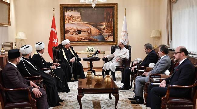 Başkan ERBŞ Ravil Gaynuddin'i kabul etti.