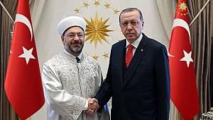 Cumhurbaşkanı Erdoğan, Başkan Erbaş'ı kabul etti