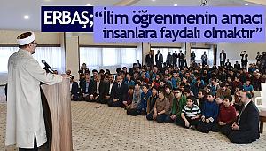 ERBAŞ;İhramcızade Erkek Kur'an Kursu'nu ziyaret etti.