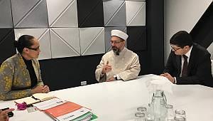 Erbaş, Yeni Zelanda Bakanı Jenny Salesa ile görüştü