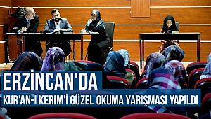 Erzincan'da Kur'an-ı Kerim'i güzel okuma yarışması yapıldI