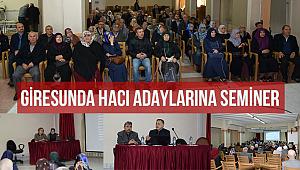 Giresun da Hacı adaylarına seminer