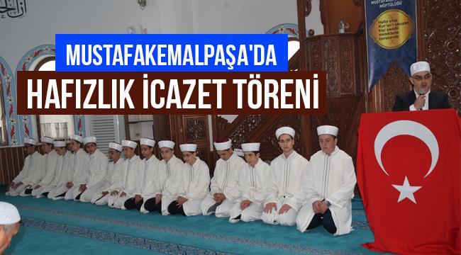 Mustafakemalpaşa'da hafızlık icazet töreni