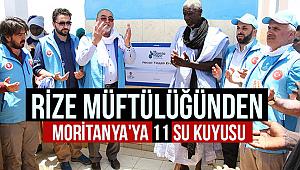 Rize Müftülüğünden Moritanya'ya 11 Su Kuyusu