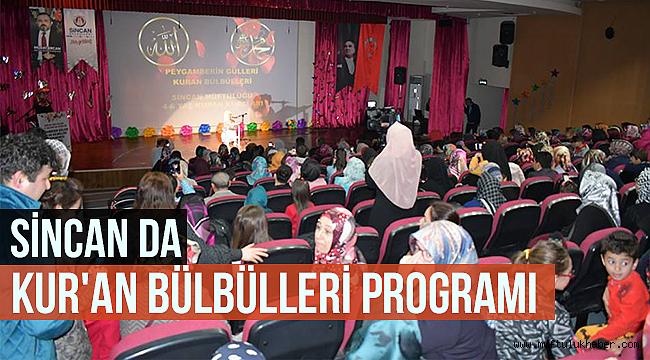 Sincan da Kur'an bülbülleri programı