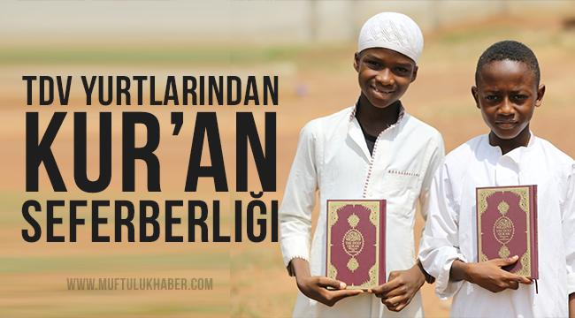 Türkiye Diyanet Vakfı yurtlarından Kur'an seferberliği