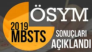 2019 MBSTS sonuçları Açıklandı.