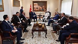 Diyanet İşleri Başkanı Erbaş, Kırgız heyeti kabul etti