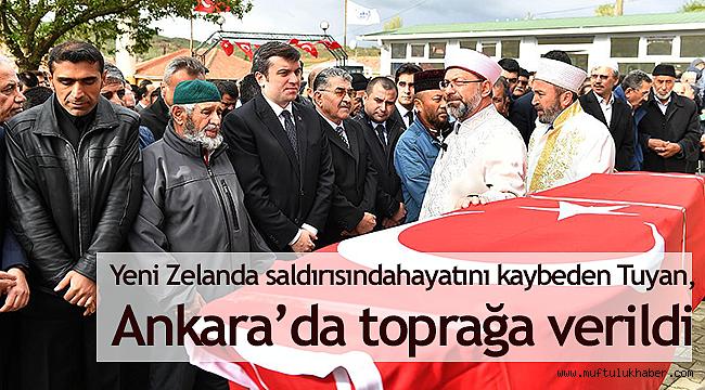 Yeni Zelanda saldırısında hayatını kaybeden Tuyan, Ankara'da toprağa verildi