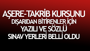Aşere-Takrib Kursu