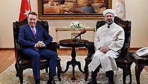 Başkan Erbaş, Avustralya Ankara Büyükelçisi kabul etti