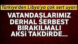 Dışişleri Bakanlığı: 'Vatandaşlarımız derhal serbest bırakılmalı'