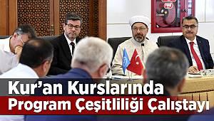 Kur'an Kurslarında Program Çeşitliliği Çalıştayı