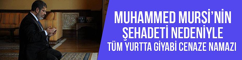 Şehit Muhammet Mursi için Giyabi Cenaze Namazı