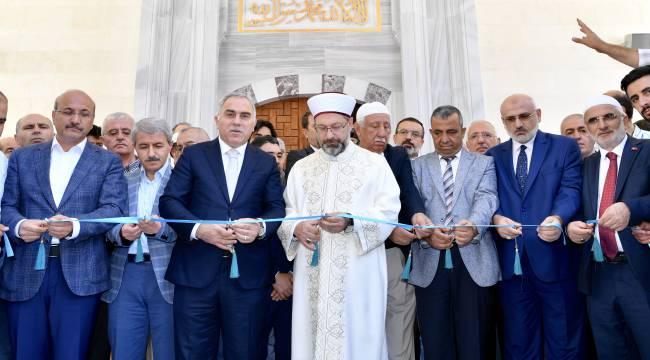 Başkan Erbaş, 10 yıl görev yaptığı caminin açılışını yaptı