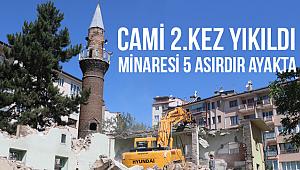 Cami 2.kez yıkıldı minaresi 5 asırdır ayakta