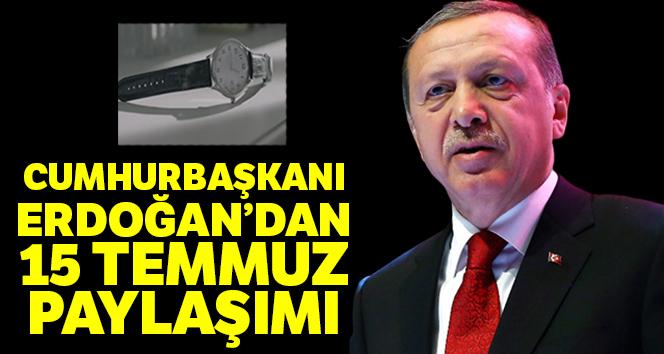 Cumhurbaşkanı Erdoğan'dan 15 Temmuz paylaşımı