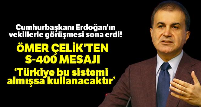 Cumhurbaşkanı Erdoğan'ın vekillerle görüşmesi bitti! Ömer Çelik'ten önemli açıklamalar